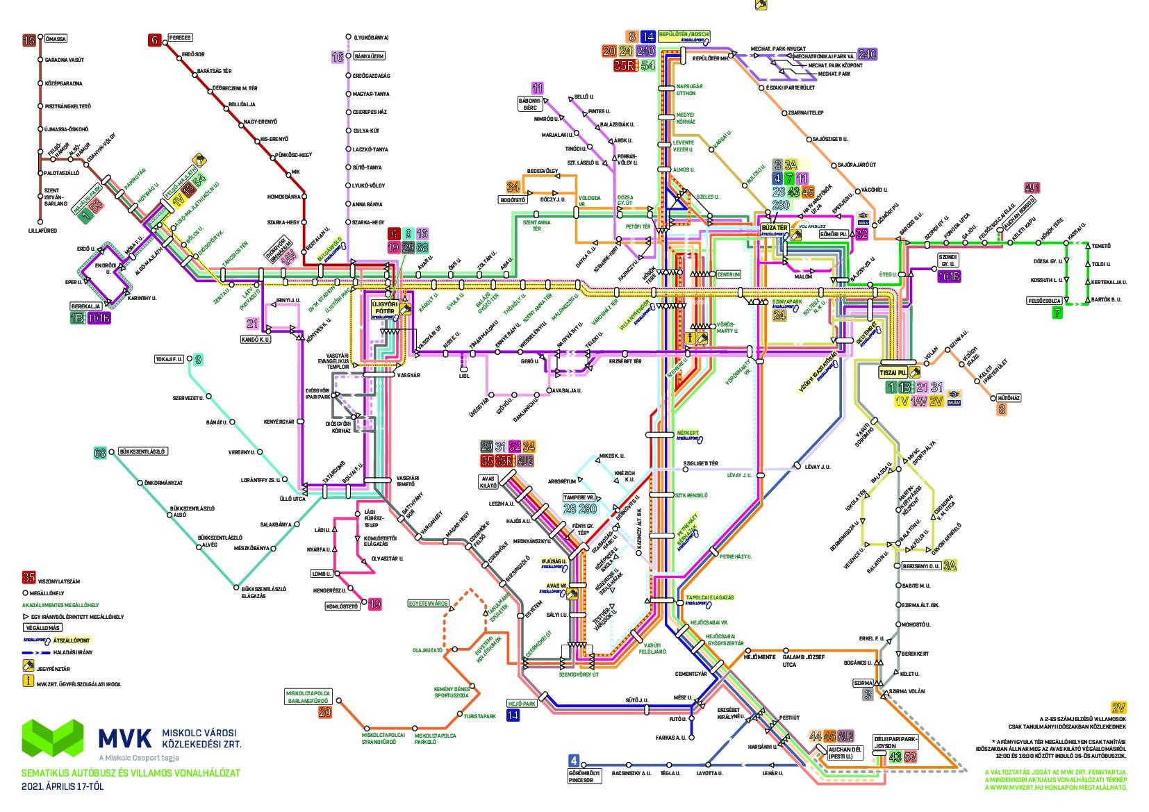 Vonalhálózati térkép