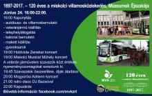 120 éves a villamosközlekedés Miskolcon