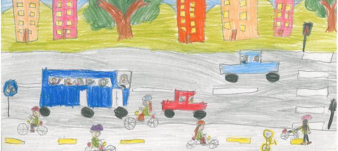 """A """"Bicajozz biztonságosan"""" rajzpályázat nyertesei"""