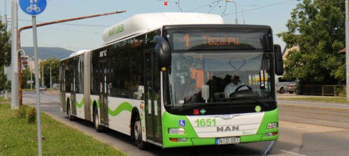 Február 11-től módosul egy indulási időpont az 1-es autóbusznál