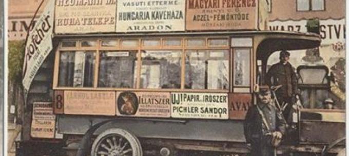 Közlekedéstörténet: Aradon az emeletes buszok 105 évvel ezelőtt jelentek meg