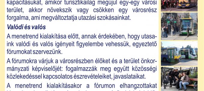 Lakossági fórumsorozat indult Miskolc közösségi közlekedésével kapcsolatban
