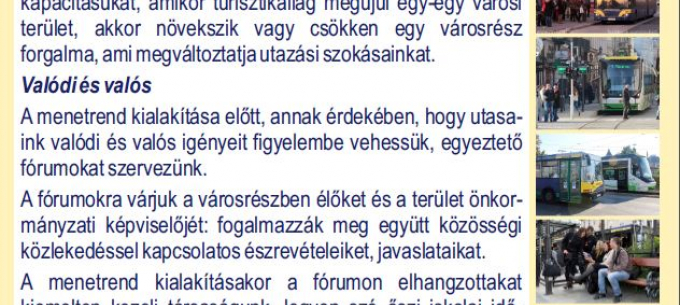 A 13-as választókörzetben folytatódik a lakossági fórumsorozat Miskolc közösségi közlekedésével kapcsolatban