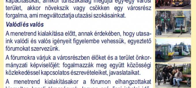 Március 5-én is várjuk az érdeklődőket lakossági fórumunkra Miskolc közösségi közlekedésével kapcsolatban