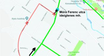 69-es autóbusz: ideiglenes megállóhelyeket alakítottunk ki
