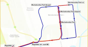 Új megállóhely és útvonal a 240-es autóbuszjáratoknál