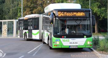Változás az 1-es és 54-es busz közlekedésében