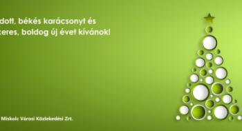 Békés, áldott karácsonyi ünnepeket és boldog új évet kívánunk!